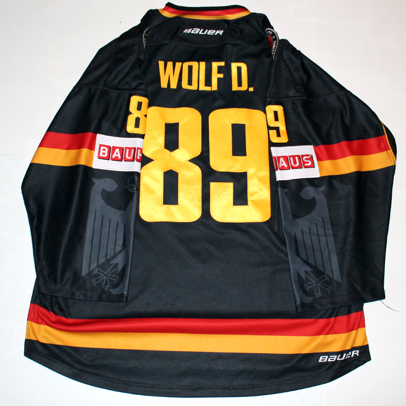 Germany Game Worn Jersey David Wolf Black Back