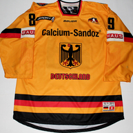 Deutschland Game Worn Jersey David Wolf Front