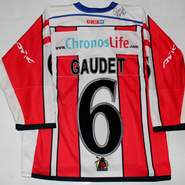 Hannover Indians Ron Gaudet Game Worn Jersey Back