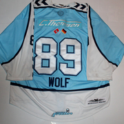Hamburg Freezers Game Worn Jersey DEL David Wolf Back