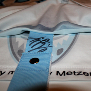 Hamburg Freezers Game Worn Jersey DEL David Wolf Fightstrap