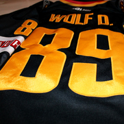Germany Game Worn Jersey David Wolf Black Backnumber