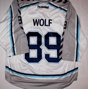 Gameworn Hamburg Freezers European Trophy David Wolf Back