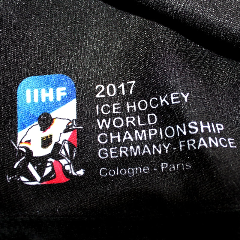 Game issued Team Germany 2017 pre world championship jersey of Leon Draisaitl - world championship print