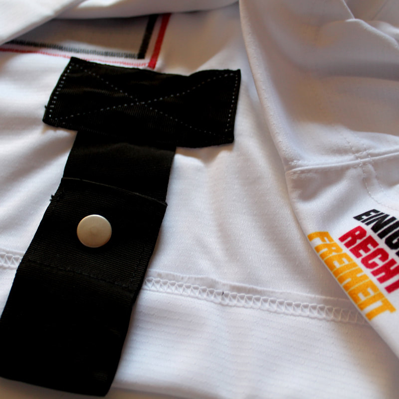 Team Germany game worn hockey jersey of Dominik Kahun Fightstrap