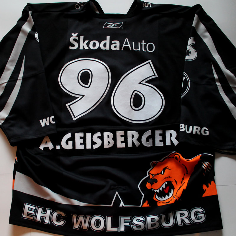 Game Worn EIshockey Trikot aus der 2. Bundesliga der Grizzly Adams Wolfsburg